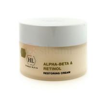 HOLY LAND ALPHA BETA & RETINOL RESTORING CREAM - Восстанавливающий и выравнивающий крем с фруктовыми кислотами и витаминами А и С 250 мл